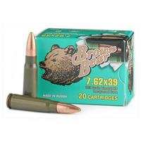 Brown Bear, 7.62x39mm, HP, 123 Grain, 240 Rounds