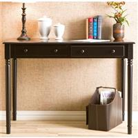 Parker 2-Drawer Writing Desk, Satin Black
