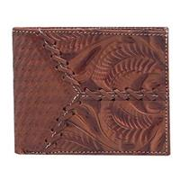 American West® Bi-Fold Leather Wallet, Antique Brown
