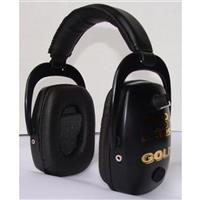 Pro Ears® Pro Slim Gold Hearing Protection and Amplification Ear Muffs, Black