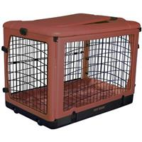 Pet Gear® The Other Door Steel Crate with Plush Pad, Brick