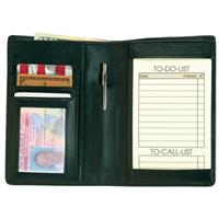 "Royce® Leather ""Things to Do"" Passport Wallet"