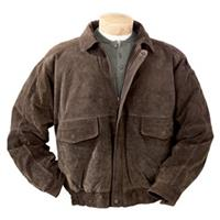 Men's Burk's Bay® Suede Bomber Jacket, Brown