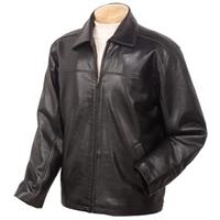 Men's Burk's Bay® Lamb Leather Driving Jacket, Black