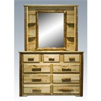 Montana Woodworks® Glacier Country Deluxe Dresser Mirror