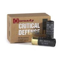 "10 rds. Hornady Critical Defense 2 3/4"" 12 Gauge Shells"