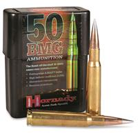 Hornady Rifle, .50 BMG, A-Max Match, 750 Grain, 10 Rounds