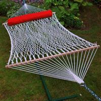 Algoma™ 2-Person Cotton Rope Hammock with Pillow