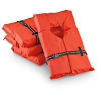 4 Type II Life Vests with Storage Bag