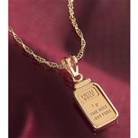 1-gram Gold Ingot Pendant from Unified Precious Metals
