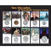 10 Decades of 20th Century Coins from Unified Precious Metals