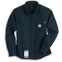 Women's Carhartt® Flame Resistant Workwear Twill Long Sleeve Shirt, Dark Navy