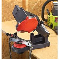 Grip-On Electric Chainsaw Sharpener • Can be mounted almost anywhere!