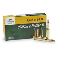 Sellier & Bellot, 7.62x54R, SP, 180 Grain, 20 Rounds