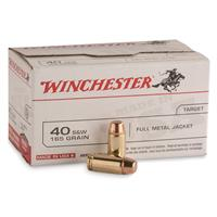 100 rds. of Winchester® .40 S&W 165 Grain FMJ Value Pack Ammo