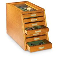 CASTLECREEK Collector's Cabinet Display Case, Light Oak