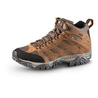 Men's Merrell Waterproof Moab Mid Hiking Shoes, Earth