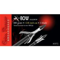 "Grim Reaper Crossbow Broadhead RazorTip 1-3/8"" 125 Grain, 3 Pack"
