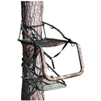 Ol' Man Outdoors® Grand Multi-Vision Camo Steel Climbing Tree Stand with the included reversible gun rest / foot rest