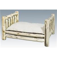 Montana Woodworks® Lodge Pole Pine Rustic Pet Bed