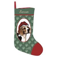 Personalized Beagle Stocking