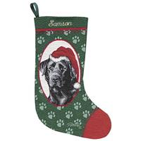 Personalized Black Lab Stocking