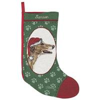 Personalized Grey Hound Stocking