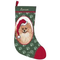 Personalized Pomeranian Stocking