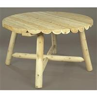 Rustic Natural Cedar Unfinished 48 inch Round Table