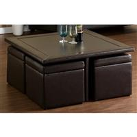 Broderick Storage Cube Table Set, Dark Chocolate