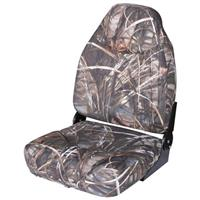 Wise® Mid-back Camo Boat Seat, Mossy Oak Shadow Grass