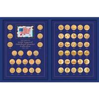 Coin Treasures® Complete Gold - layered Statehood Quarter 50 - Pc. Collection 1999 - 2008