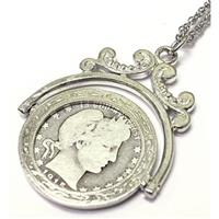 American Coin Treasures® Silver Barber Quarter Spinner Pendant