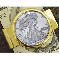 American Coin Treasures® Walking Liberty Silver Half Dollar Goldtone Money Clip