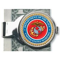 American Coin Treasures® Silver-Toned Moneyclip with Colorized Marines JFK Half-Dollar
