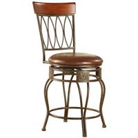 Linon Home Decor, Inc. 24 inch Oval Back Counter Stool
