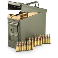 420 rounds .223 5.56x45mm 62 Grain M855 Ammo with Can