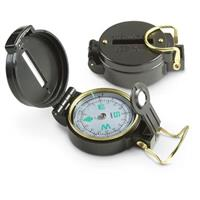 Military-Style Lensatic Compasses, 2 Pack