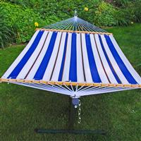 Algoma™ 11 foot Fabric Hammock and Stand Combination, Blue / White