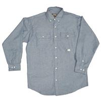 Men's Key® Flame-resistant Chambray Long-sleeve Shirt, Denim