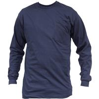 Men's Key® Flame-resistant Long-sleeve T-shirt, Navy