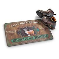 Personalized Cushion Floor Mat, Hunting Lodge