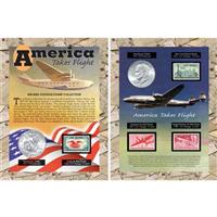 America Takes Flight Coin and Stamp Collection