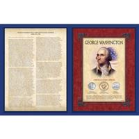 George Washington 1st Inaugural Address Commemorative Display