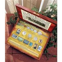 New York Times JFK Inauguration 50th Anniversary Coin and Stamp Collection Boxed Set