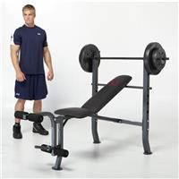 Marcy® OPP Bench & 80 - lb. Weight Set