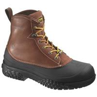 Men's Wolverine® 6 inch Rival Swampmonster Waterproof Steel Toe EH Work Boots, Brown
