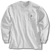 Men's Carhartt Workwear Long-Sleeve Pocket T-Shirt, Ash