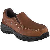 Men's Rockport Works RK6748 Composite Toe Slip-on Work Shoes, Brown