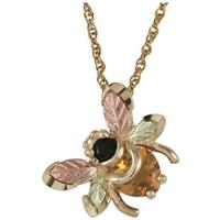 Black Hills Gold by Coleman® 10-karat Gemstone Bee Necklace